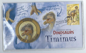 2013 AUSTRALIA'S AGE OF DINOSAURS TIMIMUS MEDALLION PNC COVER