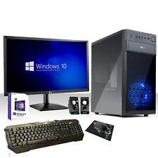 """PC DESKTOP COMPLETO QUAD CORE WINDOWS 10/WIFI/HD 1TB/RAM 8GB/ MONITOR 22"""""""