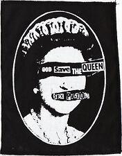 SEX PISTOLS LARGE GOD SAVE THE QUEEN PUNK JUBILEE 1977 BLACK COTTON PATCH LARGE