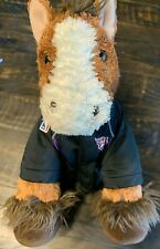Build A Bear Brown Clydesdale Horse White Face Retired Stuffed Plush  & Clothes