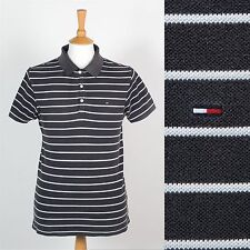 TOMMY HILFIGER MENS POLO T-SHIRT GREY STRIPED BRETON TOP SHIRT PREPPY CASUAL S