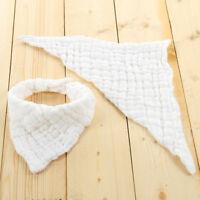 Infant Kids Baby Burp Feeding Saliva Towel Dribble Triangle Bandana Bibs G