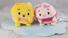 Disney Ufufy Winnie the Pooh & Piglet Mini Plush Set Japan - NEW