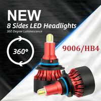9006 HB4 8Sides CSP Chip 200W 30000LM 6500K LED Headlight Kit Bulb High Low Beam