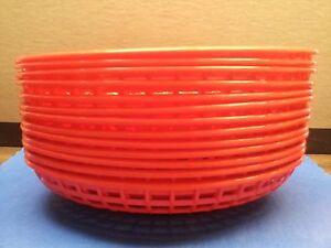 "FOOD BASKET 9"" x 6"" OVAL RESTAURANT PLASTIC PICK A COLOR/USA MADE(SIX or TWELVE)"