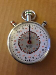 Vintage Heuer stopwatch, supertrack, boxed