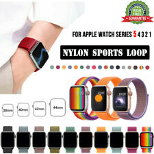 38/42mm 40/44mm Replacement Nylon Sport Loop iWatch Band Strap For Apple Watch 6