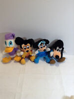 set of 4 Vintage Walt Disney Mickey's Christmas Carol Plush Dolls