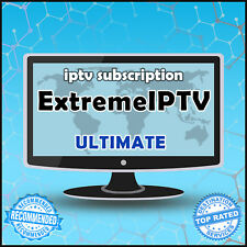"""""""12 Months"""" Extreme IPTV +10000 Ch&VOD WORLDWIDE """"ULTIMATE"""" IPTV SUBSCRIPTION"""