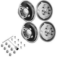 """For FORD F450 F550 19.5"""" 99-02 8 LUG Stainless Dually Wheel Simulators Bolt On"""