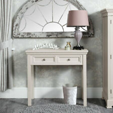 Taupe grey handpainted 2 drawer console dressing table furniture hallway bedroom