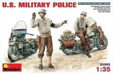 Miniart 35085 1:35th 2 US Military Policemen on Harley-Davidson WLA Motorcycles