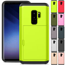 Hybrid Shockproof Case with Credit Card Holder For Samsung Galaxy S9 / S9+ Plus