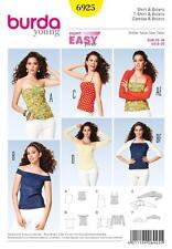 BURDA YOUNG SEWING PATTERN TOPS & BOLEROS SIZE 6 - 20 6925