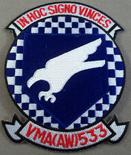 "US Marine Corps All Weather Fighter Attack Squadron 533 "" Hawks "" Cut Edge Patch"