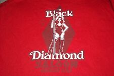 The Black Diamond Saloon American Eagle Goin' Downhill Since 1977 T-Shirt Mens M