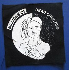 MILLIONS OF DEAD CRUSTIES funny CLOTH PATCH sew on **FREE SHIPPING** m.d.c. mdc
