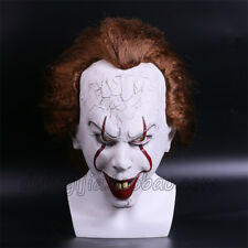 IT PENNYWISE CLOWN MASK HALLOWEEN STEPHEN KING LATEX COSPLAY COSTUME PARTY