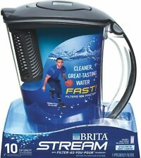 Brita Water Filter Pitcher 10 Cup Purifier Filter Included Stream New