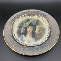 Vintage Homer Laughlin Joh Peters Gainsborough Plate Gold Band Victorian Woman