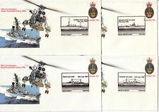 1986 FDC PSE Australia. Royal Australian Navy. 8 commemorative postmarks