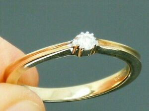 9ct Gold Diamond Solitaire Hallmarked Engagement Ring size N