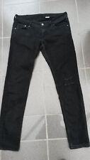 H&M - destroyed-LOOK - Jeans-Hose schwarz 31x32