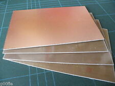 4x 100 x 160mm Copper Clad PCB FR4 Laminate Single Side