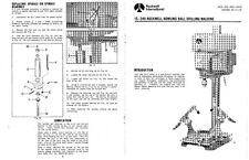 Rockwell 15-249 Bowling Ball Drilling Machine Setup Instructions