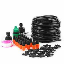 15m Garden Hose Watering Drip Pipe Greenhouse Reels Irrigation System Timer Kit