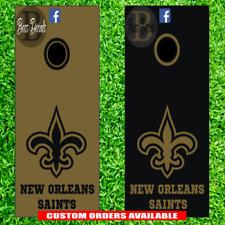 New Orleans Saints Corn hole Set of 6 Vinyl Decal Sticker cornhole Toss Game nfl