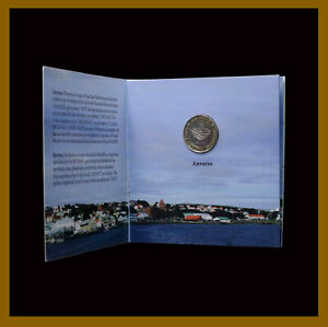Argentina 2 Pesos Coin Bimetallic Folder, 2012 30th Anniv. South Atlantic War