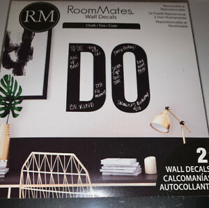 Room Mates CHALK BOARD Wall Decals Peel & Stick / REMOVABLE & REPOSITION-ABLE