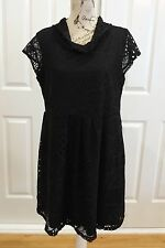VEDUCCI Black Lace Dress Size 14