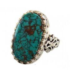 BLUE TURQUOISE RING Stylish Gemstone Men Ring Sterling Silver Rings Gift Ring