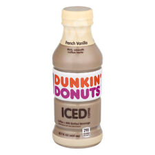 NEW DUNKIN DONUTS ICED COFFEE FRENCH VANILLA 13.7 FL OZ RICH SMOOTH COFFEE TASTE
