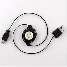 Cord Data Syncing USB 2.0 Male To Mini USB Charging Cable Retractable