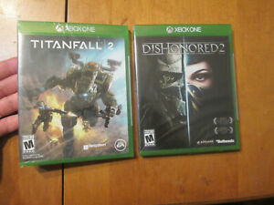 TITANFALL 2 & DISHONORED 2 XNOX ONE LOT BRAND NEW FACTORY SEALED US EDITION