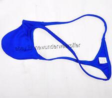 Men String Micro Thong Sexy Bikini Stretchy Nylon Tangas T-back Underwear Blue