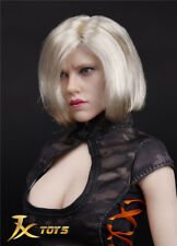 SL7940JXtoys 1/6 Scale Black Widow Female Head Carving With Short Blonde Hair