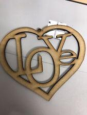 2 X Large Hanging Love Heart - Christmas Tree,  Box, Card, Decoration - 1 Loop