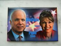 "2008 John McCain Sarah Palin Presidential Campaign 3"" Square Pinback Button"