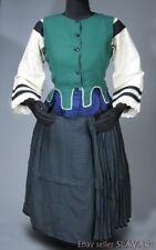 ANTIQUE Slovak Folk Costume homespun linen blouse vest skirt kroj ethnic dress