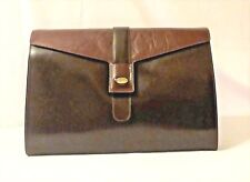 Borsa Baguette vintage anni '80 bordeaux made in Italy Firenze pelle leather