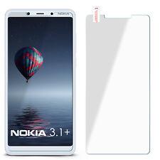 Panzer Glasfolie für Nokia 3.1 Plus aus Hart Glas Protection Klar Display Schutz