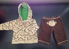 *NEWBORN  Carters 2 piece NB Monkey Outfit Hoodie And Pants