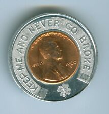 ENCASED BY J.J. CORWIN COINS LAFAYETTE INDIANA AN UNCIRCULATED 1960-D CENT