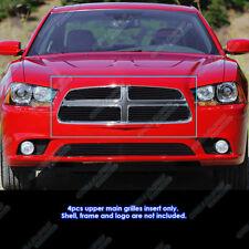 Fits 2011-2014 Dodge Charger Black Billet Grille Grill Insert