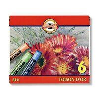 Koh-I-Noor 8511/2 Toison D'Or Artist's Coloured Dry Chalks - Sets of 6 & 12
