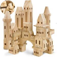 FAO Schwarz Toy Wood Castle Blocks 75pce Tsftwcxx